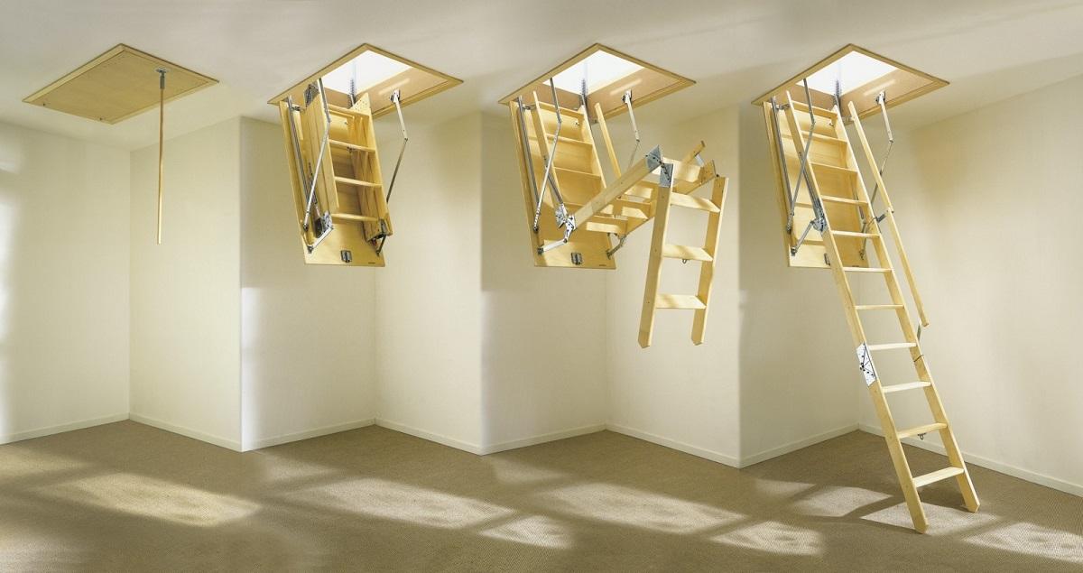 Лестницы чердачного типа