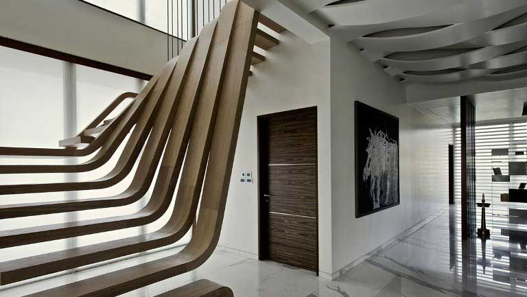 Необычные лестницы в интерьере