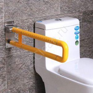 Опорный поручень рядом с туалетом откидной, для ванной, от 15 000 руб./м