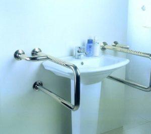 Поручень вокруг раковины, с креплением в стену и в пол, для ванной от 17 500 руб./м